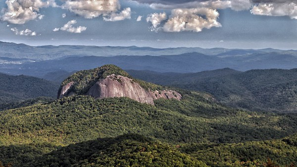 Looking Glass Rock - core of an ancient mountain