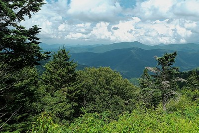 The Blue Ridge just east of Graveyard Fields