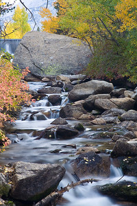 Rushing stream, Lake Sebrina - Bishop, CA
