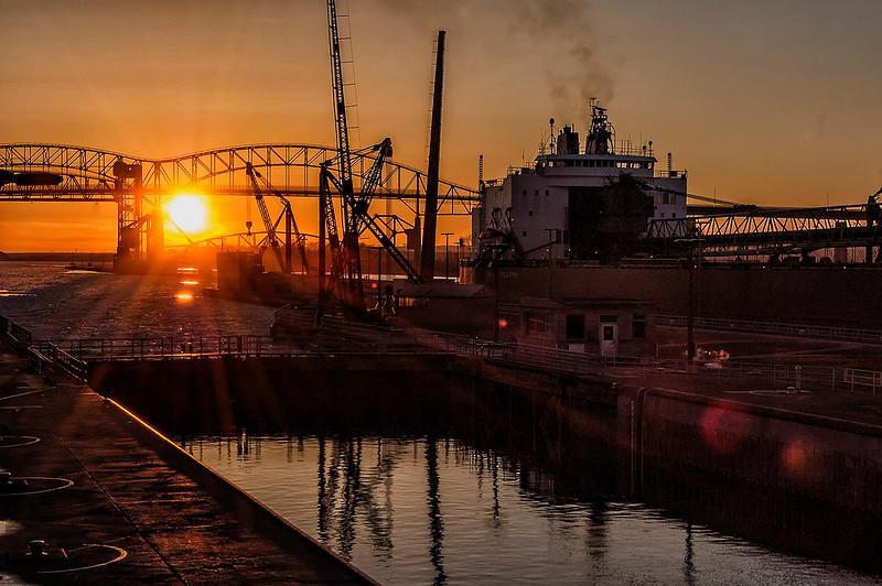 Soo Locks Sunrise
