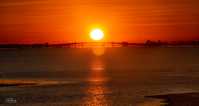 Sunrise over Courtney Campbell Causeway