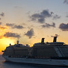 Caribbean Cruise Ship Sunset
