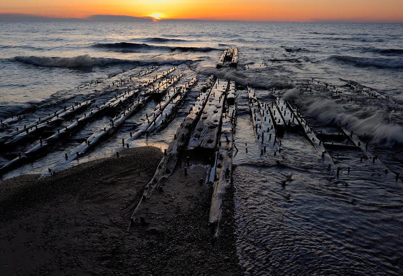 Shipwreck Timbers; Lake Superior
