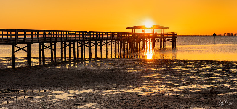 Sunrise over Safety Harbor Pier