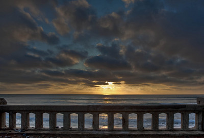 Rustic Bridge at Sunset - Carlsbad, CA
