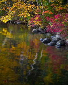 Reflecting Fall Colors - Canaan Street Lake, New Hampshire