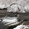 Snowy Tree over Falls - Rutledge Falls Natural Area - Tullahoma, TN