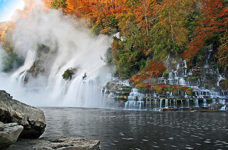Twin Falls at Daybreak - Rock Island State Park - McMinnville, TN