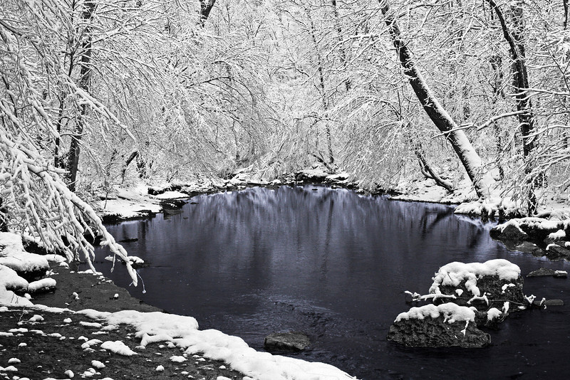 Blue Winter Pool - Rutledge Falls Natural Area - Tullahoma, Tn