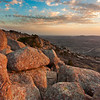 Sunset on Mt. Scott in the Wichita Mountains of southwest Oklahoma on March 21, 2013.