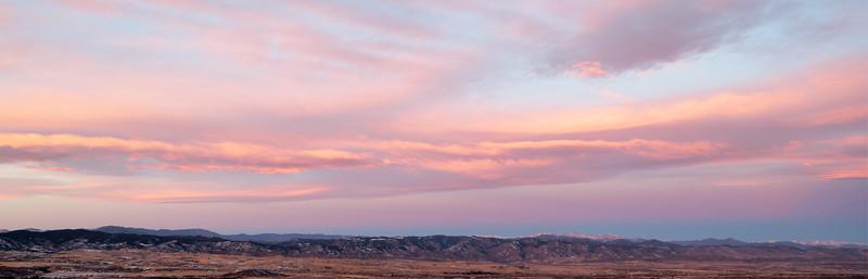 Front Range Sunrise From Daniels Park