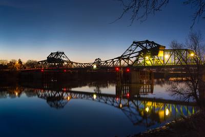 The bridge crossing the Sacramento River at Freeport in southern Sacramento County.