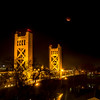Eclipse over Sacramento's over Bridge