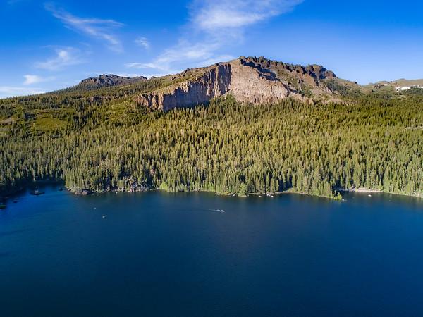 Carson Peak overlooking Silver Lake, adjacent to the Kirkwood Ski Resort near Jackson, Ca.