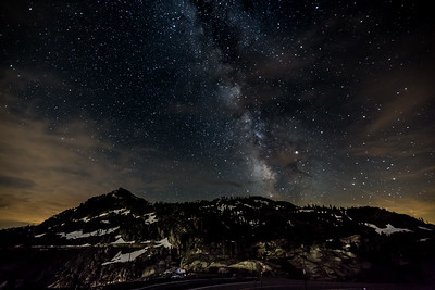 "Milky Way over Donner Lake Vista Point  (artwork size recommended to 12"" x 18"")"