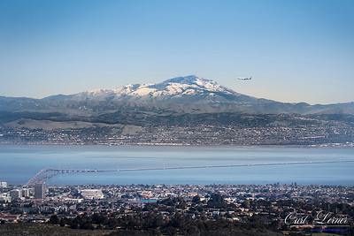 A snow-capped Mount Diablo is the background for this winter Bay Area scene...  For rePrints, please contact me.