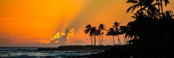 Sunset over Poipu