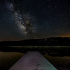 "The Milky Way over a quiet Donner Lake pier...<br /> <br /> (artwork size recommended to 12"" x 20"")"