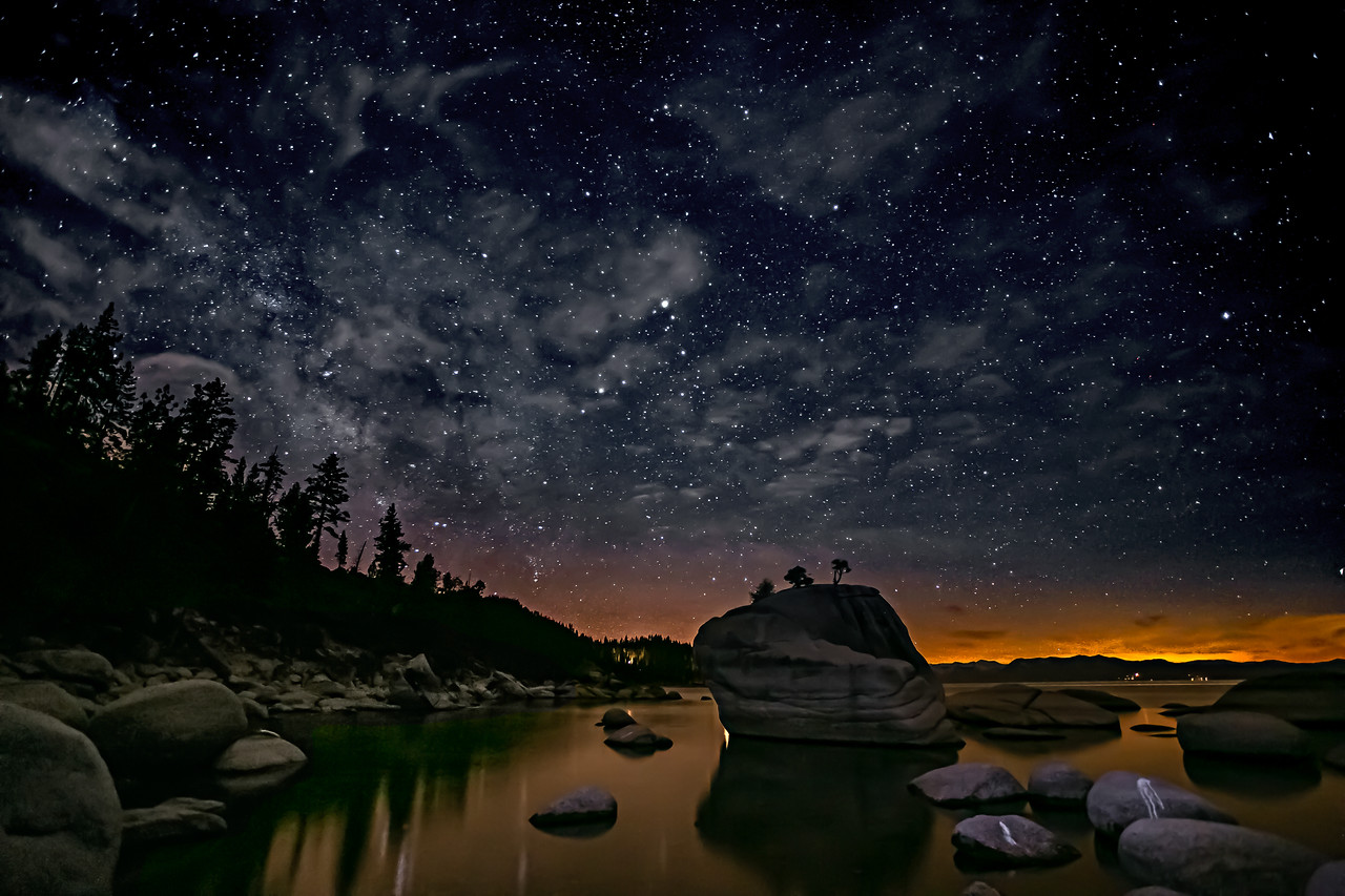 One of the most heavily photographed spots on Lake Tahoe - Bonsai Rock.
