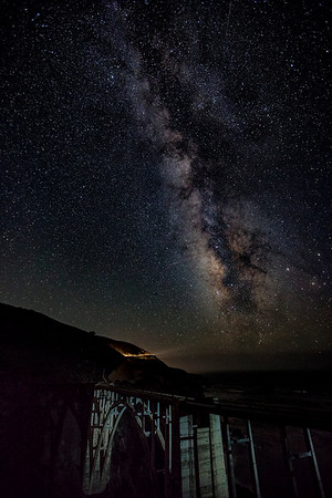 Bixby Bridge and the Milky Way