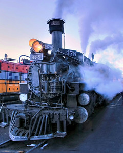 Engine # 478 of the Durango/Silverton Narrow gauge Railway, Durango, Colorado