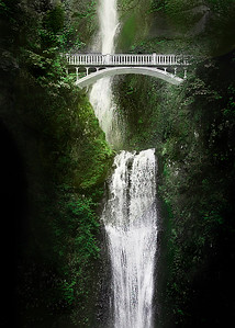An artistic look at Multnomah Falls, Oregon  For information on reprints of this image, please contact me!