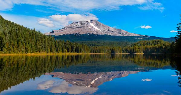 Mt Hood, reflecting in Trillium Lake