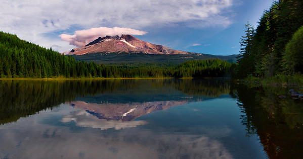 Oregon's Mt Hood reflected by the waters of Trillium Lake near Government Camp Oregon.  For information on reprints of this image, please contact me!