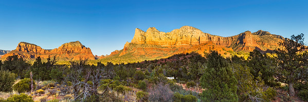 """The red rocks of Sedona Arizona are an amazing photographer's paradise.  This piece is designed to be printed at 15"""" x 45"""" and would display the colors amazingly in an acrylic medium.  Each acrylic is built by hand with a metallic print sandwiched between a hard back and a 1/4"""" high quality acrylic sheet and finished with a french cleat to make hanging a breeze!  Prints are available using the """"Buy"""" button below - acrylics require special ordering which can be done by using the """"Contact"""" link above.  I will work with you to determine a final size, format, delivery and cost..."""
