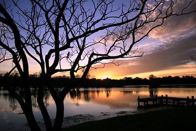 Sunset on the Hillsborough River, Tampa, Florida