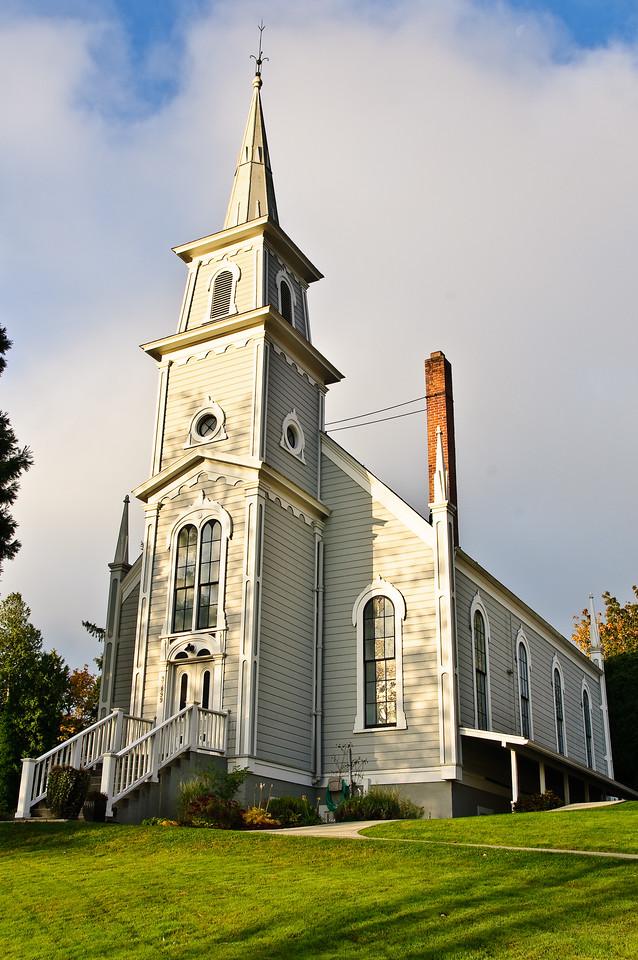 Port Gamble Church in early fall.