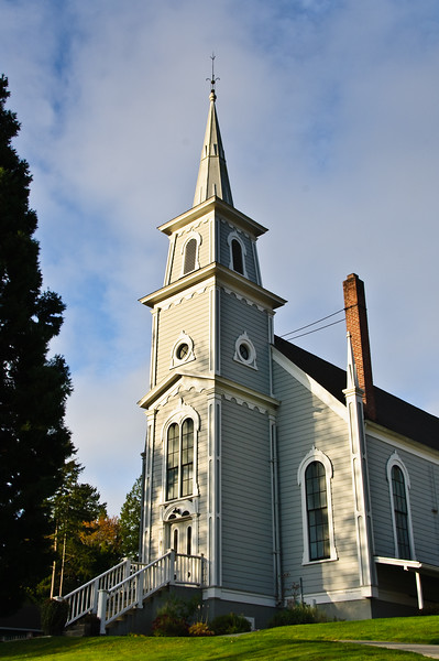 Port Gamble Churh in early fall.