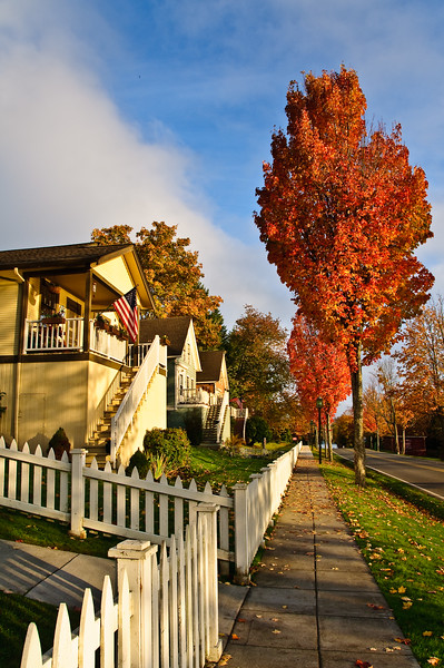 Port Gamble in Fall, a Step back in Time.