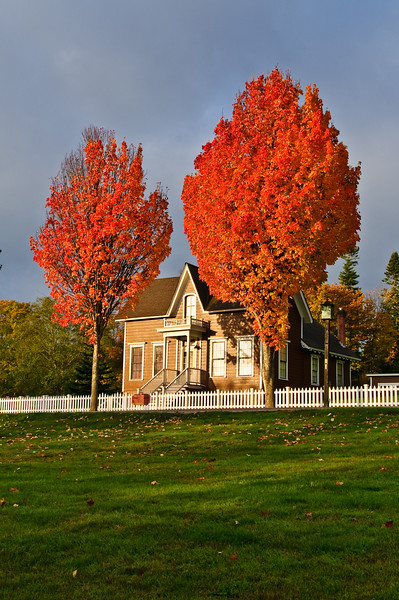 Fall Colors in Port Gamble.