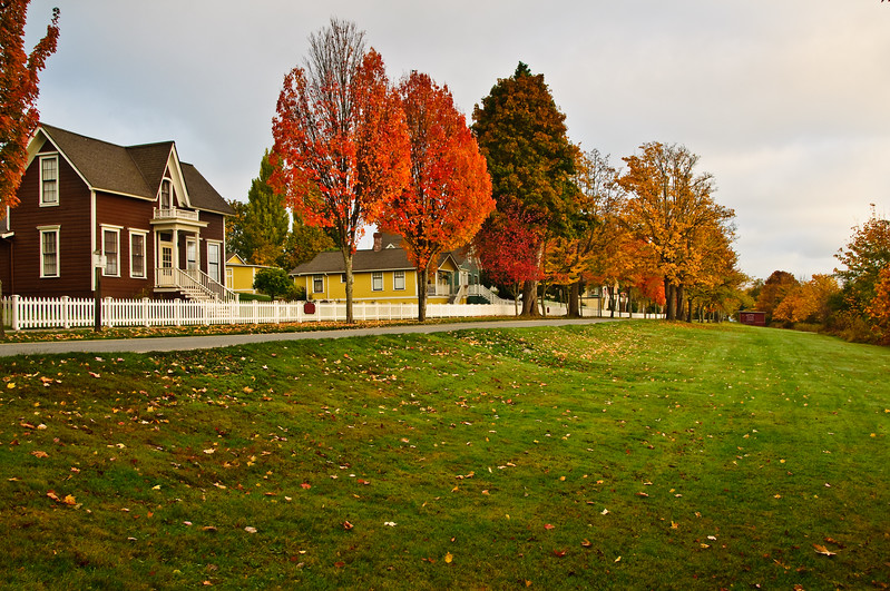 Port Gamble houses in early fall.