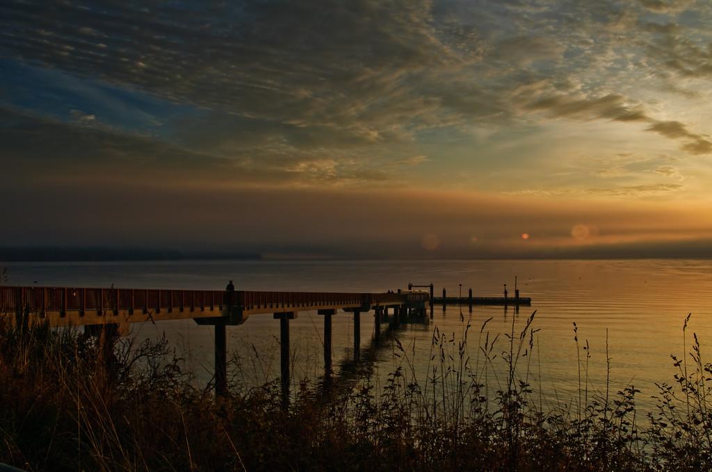 Suquamish Dock at Dawn.