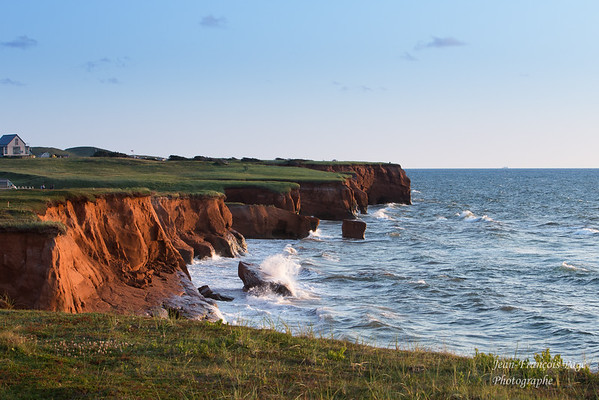 Iles de la Madeleine sea and hills