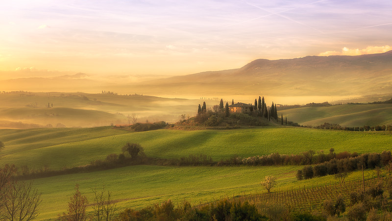 Morning song | Val D'Orcia, Italy