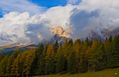 Val di Fassa 1, autunno. Alpi.