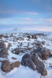 Limestone in Snow