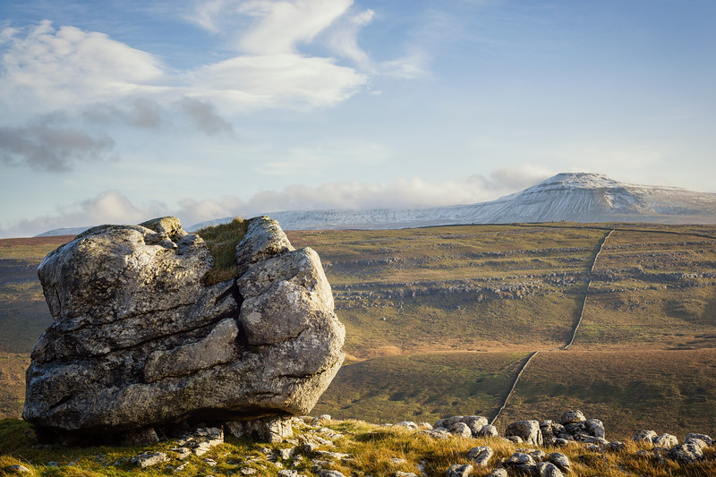 Limestone Boulder & Ingleborough