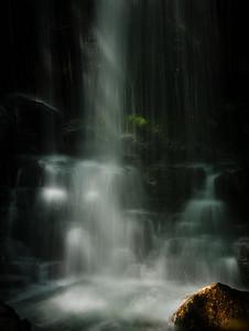 Sunlit falls.