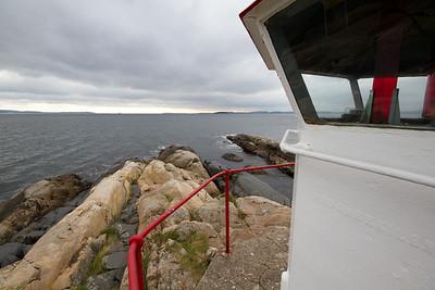 Østnestangen Lighthouse, at the Southernmost tip of Hurum