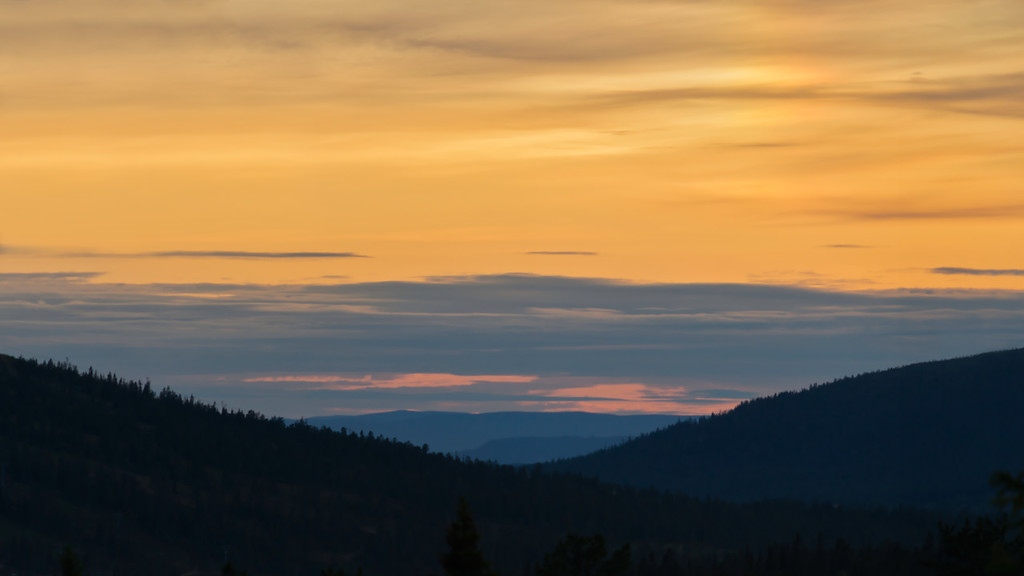 Sunset in Sälen