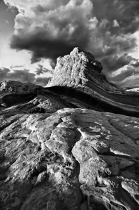 Candy Rock. Summer monsoon clouds on the Paria Plateau.