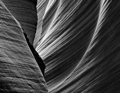 Lower Antelope Canyon on the Navajo Reservation near Page, Arizona.