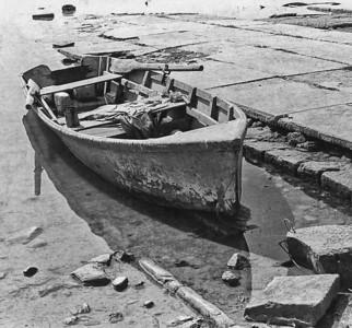Fisherman's Boat. Falcon Lake at Old Zapata, Mexico