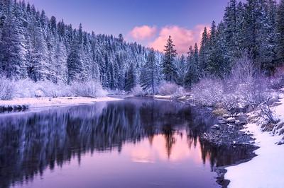 Dreamy Winter Sunset