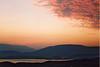 Sunrise over Kassiopi Bay and Albania, Corfu - 2003