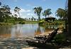 the natural swimming lake at Lake Weyba, Australia - January 2008
